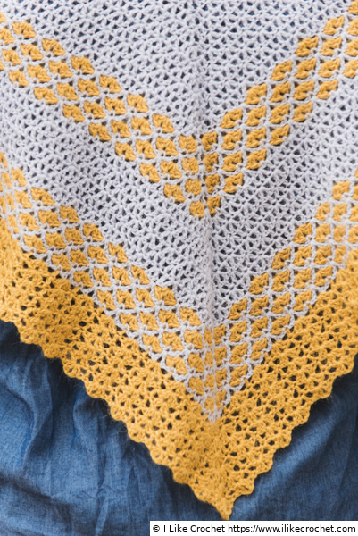 Häkelanleitung Lemon Buttercup - Detailansicht der Spitze
