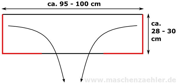 Schalkragen Aletheia - Schemazeichnung