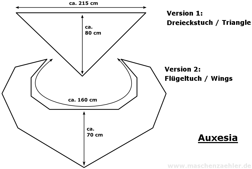 Häkelanleitung Auxesia - Maschenzähler Designs
