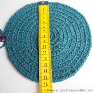 Häkelanleitung Spiralmütze Charybdis - Durchmesser des Mützentellers: 15,5-16,5cm