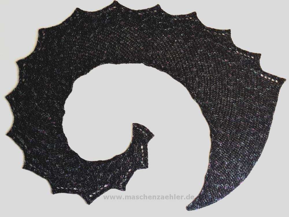 Häkelanleitung Drachenschwanz Drakon Maschenzähler Designs