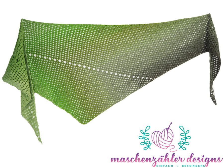 Häkelanleitung Erebos - Komplettansicht des Tuchs