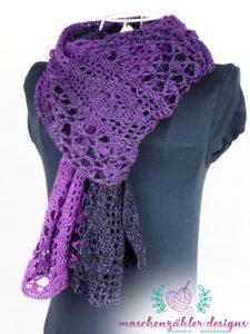 Stola Nymphia - als Schal getragen