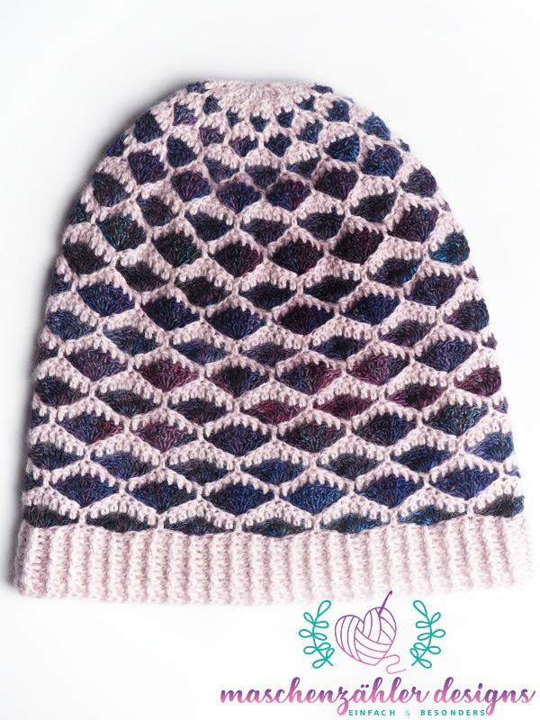 Häkelanleitung Phlegethon Version 4: Mütze - liegende Mütze