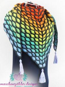 Häkelanleitung Phlegethon - Version 2 - symmetrisch - umgelegtes Tuch