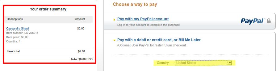 Erste Übersicht bei Paypal