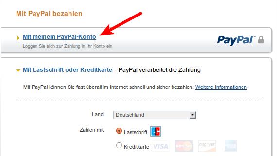 Ravelry Anleitung kaufen - Zahlung über bestehendes Paypal-Konto
