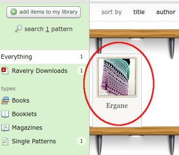 """Lern-CAL Ergane - so findest du die einzelnen Anleitungsteile: Desktop-Ansicht: In der """"library"""" das Ergane anklicken."""