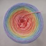 """Farbverlaufsgarn """"Soft Regenbogen"""" von Wollium"""
