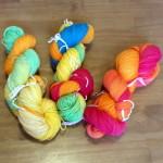 Wolle färben mit Ostereierfarbe