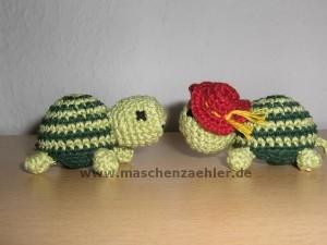 Meine ersten Amigurumis - zwei Schildkröten