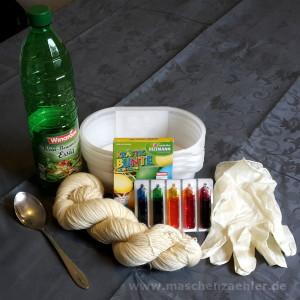 Materialien zum Wolle färben